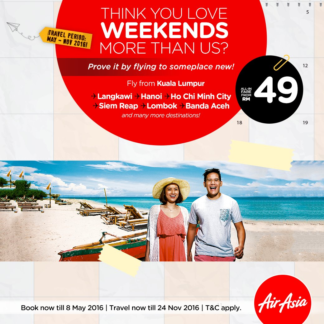 Can't live without long weekends? Let us help you out!   Book your flights with us @
