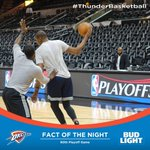 .@BudLight Fact of the Night. Tonights is the Thunders 80th Playoff game in its OKC history. https://t.co/N1js6wTjGC