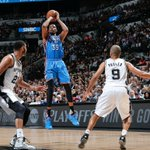 Got a good one going on in San Antonio At the half, Thunder lead the Spurs, 56-53 #NBAPlayoffs https://t.co/4kOKPpjpm4