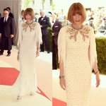 And so it begins! #AnnaWintour arrives wearing Chanel Couture at tonights #MetGala https://t.co/fUU5zxQJCY https://t.co/htwnsj6fH2
