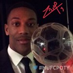 Heres @AnthonyMartial with his Goal of the Season award. Congratulations! #MUFCPOTY https://t.co/vaPWJxVPhV