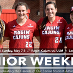 This weekend well honor a great group of ladies who are forever Ragin Cajuns! See you at Lamson. #GeauxCajuns https://t.co/V1TlOtRXzG