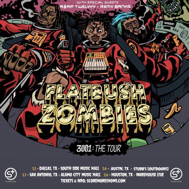 FLATBUSH ZOMBIES TEXAS RUN!! Tickets & Info @ https://t.co/JYDyuxtMLb