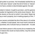 Frederick Douglass on the tendency to draw a false equivalence between Irish oppression and American slavery (1845) https://t.co/tzA7UbY6Bi