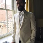 British actor #BenWhishaw wearing a custom #Burberry tuxedo for tonights #MetGala https://t.co/q50pqUY4FP