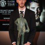 David De Gea wins third successive Player of the Year award https://t.co/WwPKvk6EvL #MUFC https://t.co/xcCKPj22rA