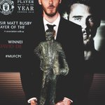 De Gea becomes the first player to win the Sir Matt Busby Player of the Year award 3 seasonsin a row. #MUFC https://t.co/5Gc67dOMzm