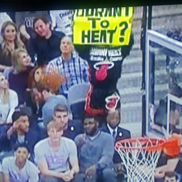 @AminESPN you may have found an opponent in the upcoming #HeatIsland election with this fan in San Antonio 2nite... https://t.co/09Qg62onfT