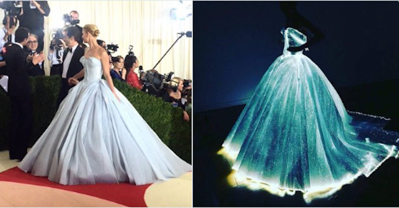 Claire danes wore an insanely incredible light up ball gown to the ...