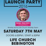 Reminder that Pentecost Launch Party is this Saturday night @MyLifeChurchUK!!@GavCalver speaking.  @WhatsOnWirral https://t.co/nvkDx4AVLe