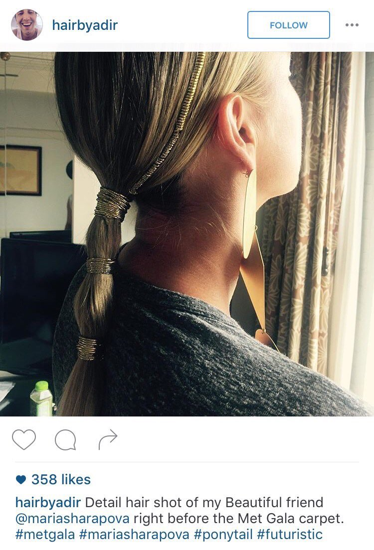 My inspiring friend @hairbyadir created this modern ponytail for tonight's #MetGala https://t.co/Gk7gY8Yqd3