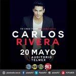 Uno de los consentidos de @Planeta947 regresa ¡@_CarlosRivera en concierto! Gana tu pase doble AL AIRE. https://t.co/5TcN4SqNVk
