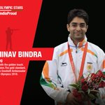 Three cheers for @Abhinav_Bindra,Olympic gold medalist& Indias Goodwill Ambassador #RioOlympics2016 #MakeIndiaProud https://t.co/cVNVSyHCxh