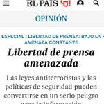 Esto va @el_pais de @juanluiscebrian y publica un editorial titulado Libertad de prensa amenazada. Fin del chiste. https://t.co/DUGndfU873