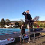 No running by the pool today! @mrdanwalker in prime position for the election special from @lidocheltenham https://t.co/6TpkAg8mNc