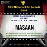 #NationalFilmAwards: Feature Films- Indira Gandhi Award for Best Debut film of a Director https://t.co/QmZ45SX9T4