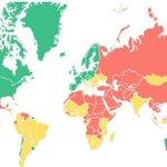 Hoy, día de la #LibertadDePrensa. Mapa de su situación en el mundo, según Freedom House https://t.co/oE9uBeQ8A7 https://t.co/2U4fyI1QKb