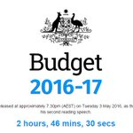 Its like a countdown to Christmas! #budget2016 https://t.co/k0ZJnTqyZf