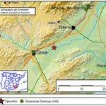 #Terremoto fuerte en Lorca (Murcia) a las 13:56, magnitud 3.6. Detalles: https://t.co/6FugEAIstv https://t.co/9k4CNehEcM