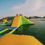 Frenzy Waterpark, Lumut, Perak. Nak merasa macam dalam rancangan Wipeout tu bolehlah datang sini. Mencabar beb! 😱😍👍🏼 https://t.co/iaURJ5531H