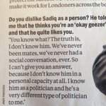 "Sadiq Khan tells Time Out he ""quite likes"" Zac Goldsmith; Zac says he doesnt know him at all. Literally Mean Girls https://t.co/KBenPVGEx7"