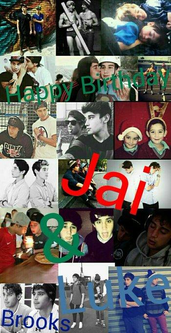 Happy 21th Birthday Jai & Luke Brooks I LOVE YOU MORE THAN MY LIFE