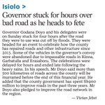 Only in Kenya...Governor stuck for hours on bad road on a way to function to celebrate repaired roads. https://t.co/ljhNEZm2bH