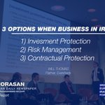 """ Three Most Important options business in #Iran."" - Will Thomas #EuropeIranForum #IranDeal #KhorasanLive https://t.co/VZSPJSm6mm"