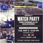 #GAMEDAY! #BoltsNation, Ill see YOU at @AmalieArena at 5pm! OFFICIAL @TBLightning Watch Party! @StreetLacedDJs ⚡️ https://t.co/1psCPgOqGM