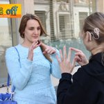 Learn to sign your name with our students today in @Princesshay #Exeter #DeafAwarenessWeek #VoiceOff https://t.co/5qRuTT3cN8