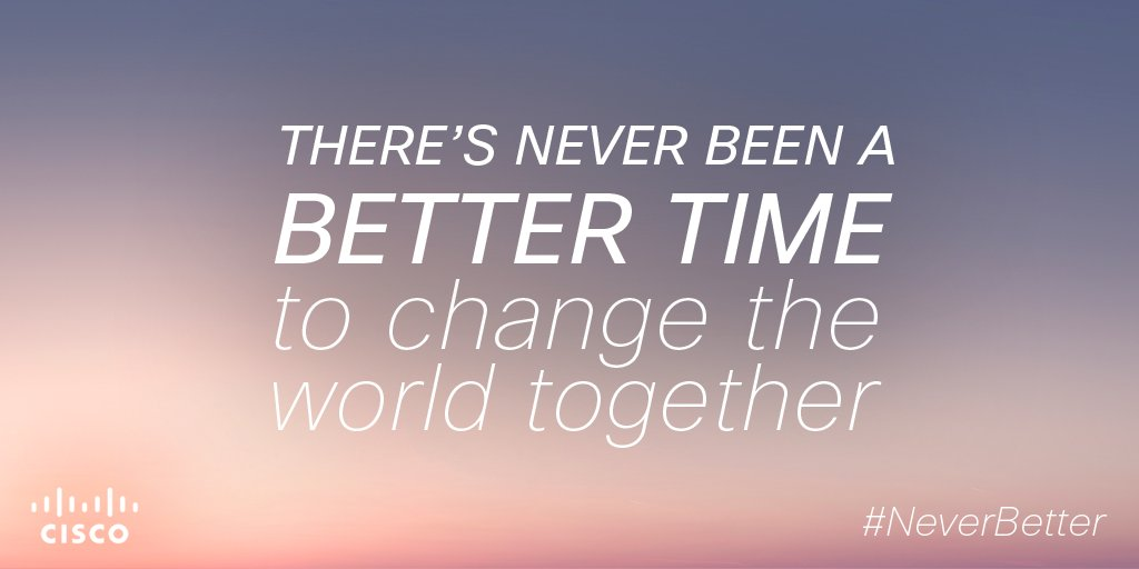 Why do we come to work every day? Because there's never been a better time to change the world together #NeverBetter https://t.co/E63G0LFqkv