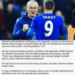 Ranieri, ídolo https://t.co/A9WoZclEWw