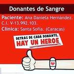 #ServicioPúblico Se requieren donantes de sangre para Ana Hernández. https://t.co/5AFldxu8sO