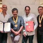 So happy and proud to be associated with all of these fine men in the picture!! @ssrajamouli @Shobu_ @DirKrish https://t.co/NOyLcWX5DZ