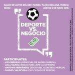 El círculo Podemos Murcia Ciudad organiza este jueves un debate sobre #deporte y su gestión en #Murcia y la región https://t.co/qVl3Tfb9Qg
