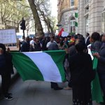 PHOTONEWS: Nigerians in the Diaspora protest Fulani Herdsmen massacre at the UK Westminister Parliament today https://t.co/2y3uQhBDF5