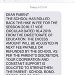 GD Goenka School rolls back fee hIke. All due to efforts of @ArvindKejriwal & @msisodia . https://t.co/s0c2la0TQF