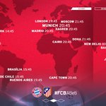 6 hours until crunch time! Where in the world will you be supporting #FCBayern from? #FCBAtleti #UCL https://t.co/EsNyguN9bb