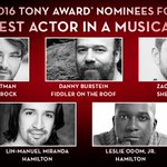 And the #TonyAwards nominees for Best Performance by an Actor in a Leading Role in a Musical are... https://t.co/KYqWVxhk0M