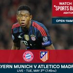TONIGHT: Watch Bayern Munich v Atletico Madrid live on the biggest pub screen in the UK: https://t.co/P9QCKWEhkL https://t.co/D088zvmvMj