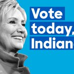 Hoosiers, head to the polls today. RT this if you're voting for Hillary. https://t.co/1CClTdef0F
