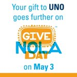#UNOPROUD to be a part of @GNOFoundations #GiveNOLA Day! Make your gift to @UofNO here: https://t.co/AezhpPhJJC https://t.co/wS4Us6BqN1