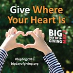 Give today! Support the nonprofit of your choice during the Big Day of Giving at https://t.co/3nENxwR8SS #BigDoG2016 https://t.co/kVqe3wGcoV