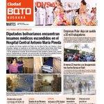 Buenos días! Esta es la #portada de la edición Nro 155 del periódico @Ciudad_BQTO https://t.co/l7mdGI7Hts