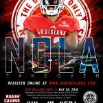 4 weeks until the Ragin Cajuns Invade the Great City of New Orleans!! #NolaTakeover #504 #CajunInvasion16 #ULive17 https://t.co/aOVc3oJMMI