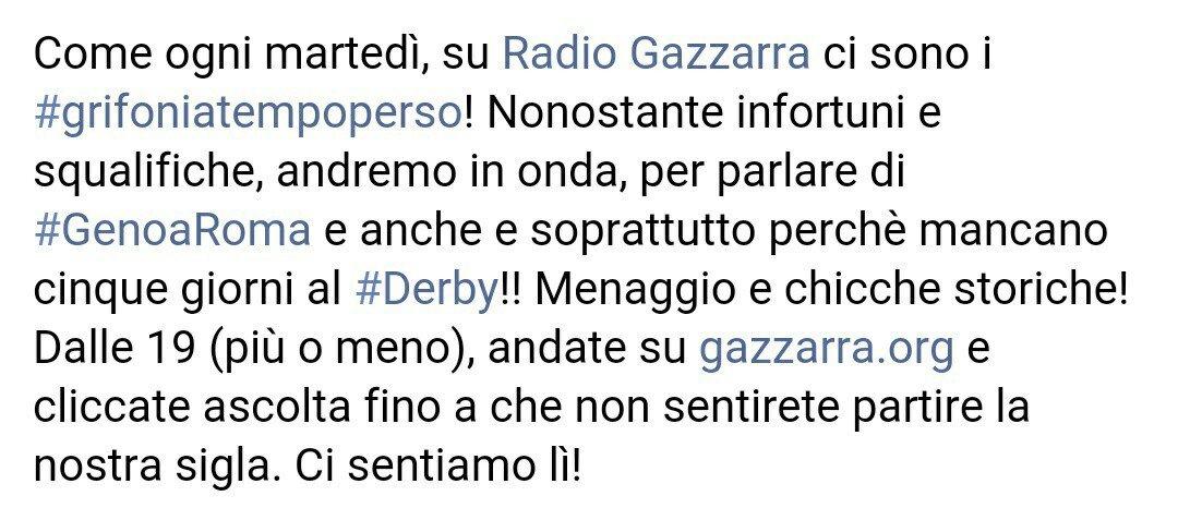 #GenoaRoma