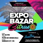 Preparados?? Este sábado tendremos Expobazar Citrus Designs 2016 desde el patio de Adoquines de La Flor de Venezuela https://t.co/IEQ3aNvUDF