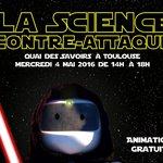 La science contre-attaque au @QuaiDesSavoirs ! #MayThe4thBeWithYou https://t.co/LeEhwpiJ9u #Toulouse @ScienceAnim https://t.co/AH9Imsb8Da
