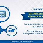 Hoy conmemoramos el #DíaLibertadPrensa ¡Informar es transparentar! https://t.co/EgLDGjotrU
