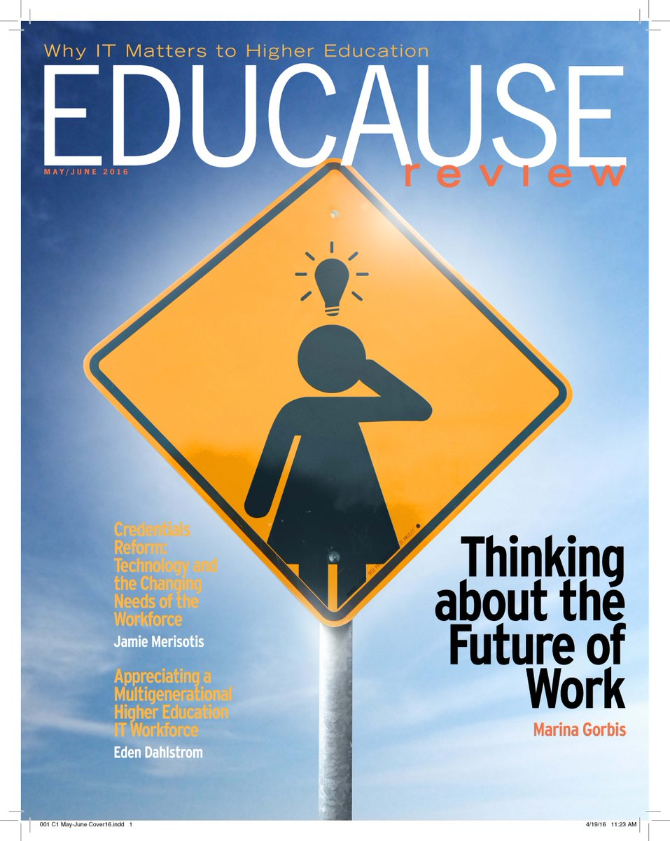May/June 2016 issue, online & in print this week: What is the future of work & what does it mean for #highered? https://t.co/EXwTobyKIv